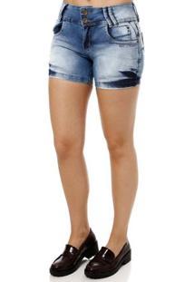 Short Jeans Feminino Azul