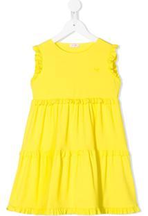Il Gufo Vestido Sem Mangas Com Amarração - Amarelo