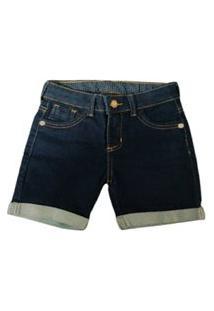 Bermuda Jeans Infantil E Juvenil Barra Dobrada Quase Anjo
