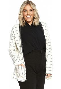 Cardigan Feminino Secret Glam Bege