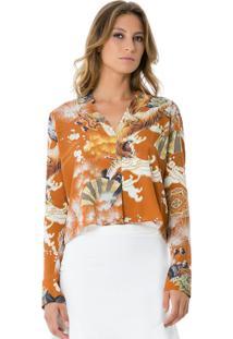 Camisa Tecido Rayon Bali Tigre
