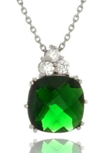 Colar Le Diamond Zircônia Verde Esmeralda - Kanui