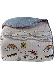 Edredom Hello Kittyâ® Casal- Branco & Azul- 220X245Cmartex