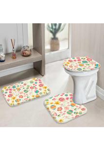 Jogo Tapetes Para Banheiro Páscoa Fofo