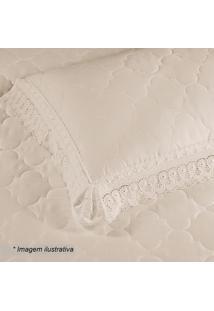 Porta Travesseiro Cristal Renascença Em Percal- Pérola