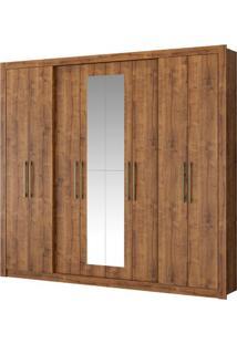Guarda-Roupa Héster Com Espelho - 8 Portas - Native