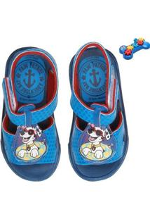 Sandália Infantil Patrulha Canina Engrenagem + Brinde Masculina - Masculino-Azul