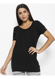 Lupo Camiseta Lisa Com Seamless Dryâ® Preta