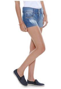 Short Juvenil Jeans Puídos Marisa