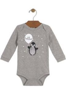 Body Bebê Suedine Up Baby Masculino - Masculino-Cinza