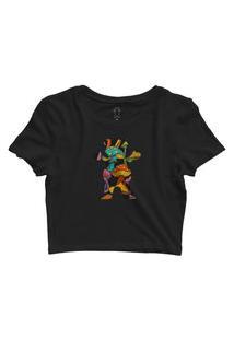 Camiseta Grizzly Fungi Og Bear Cropped Tee Preto