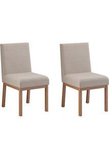 Conjunto Com 2 Cadeiras Sofia Nogueira E Cru