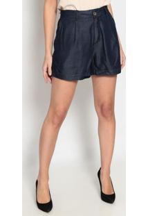 Short Jeans Com Bolsos - Azul Escuroenna