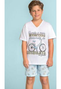Pijama Curto Para Menino Bicicleta 120370 Lua Encantada