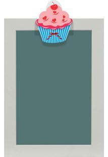 Quadro De Aviso Lousa Cupcake Iii 25X35Cm Colorido Kapos