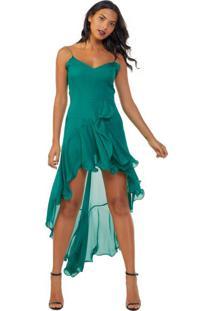 Vestido De Seda Alcinha