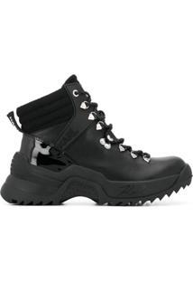 Karl Lagerfeld Ankle Boot Com Aplicações De Logo - Preto