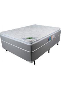 Cama Box Casal 138Cmx188Cmx71Cm Molas Ensacadas Pillow Top Maxi Life Luckspuma Colchões Cinza/Branco