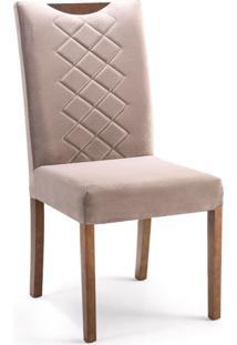 Conjunto Com 2 Cadeiras De Jantar Adelia Marrom Claro E Imbuia