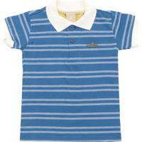 e52d8156b2 Camisa Polo Colorittá Menino Listrado Azul