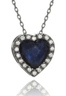 Colar Le Diamond Coraã§Ã£O Lapidado - Preto - Feminino - Dafiti