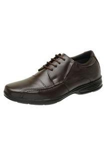 Sapato Social Esporte Em Couro Rod'S Marrom
