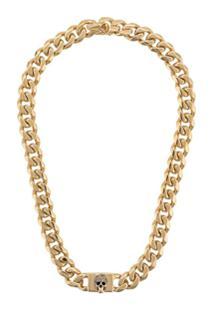 Alexander Mcqueen Chain Skull Necklace - Dourado