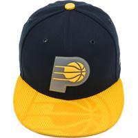 Boné New Era Indiana Pacers Azul-Marinho Amarelo c4ff52f059b