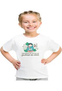 Camiseta Infantil Criativa Urbana Pedaços De Você Branca
