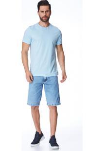 Bermuda Jeans Zait Tradicional Lucio Azul Marinho