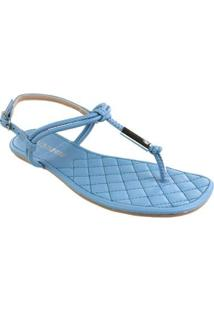 Sandália Rasteira Via Marte Summer Blue Feminina - Feminino-Azul Claro+Azul