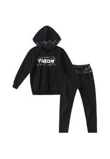Conjunto Com Dependência Tigor T. Tigre Preto Menino Conjunto Com Dependência Tigor T. Tigre Preto Bebê Menino