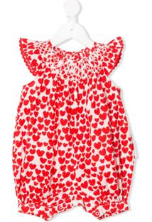Stella Mccartney Kids Heart Print Body - Branco