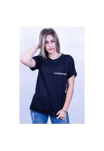 Camiseta Bilhan Corte A Fio Waterman Pqn Preta