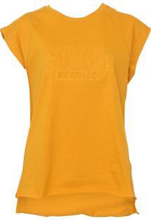 Camiseta Colcci Relevo Amarela - Kanui