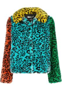 Alice+Olivia Jerrie Faux Fur Coat - Azul