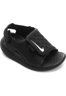Sandália Infantil Nike Sunray Adjust 5 - Masculino-Preto+Branco