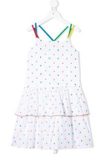Stella Mccartney Kids Vestido Com Alças Cruzadas - Branco