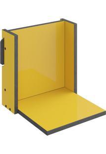 Prateleira Mov- Amarelo & Cinza Escuro- 29,5X29,5X29Bentec