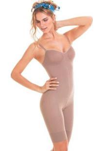 Body Trifil Modelador Feminino - Feminino-Marrom Escuro