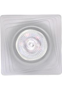 Spot Dicróica Fixo Vidro Quadrado Mr16 50W 127V Branco