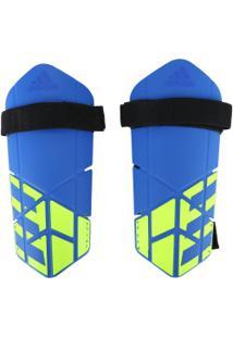 Caneleira De Futebol Adidas X Lite - Adulto - Azul/Preto