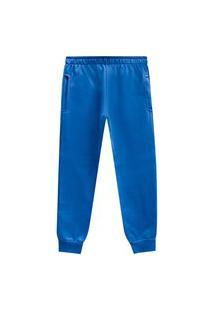 Calça Primeiros Passos Abrange Moletom Azul Abrange Casual Azul