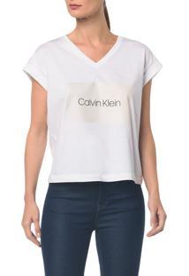 Blusa M/C C Arte Calvin Klein Decote V - Branco 2 - Pp