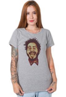 Camiseta Post Malone Cinza Stoned - Cinza - Feminino - Algodã£O - Dafiti
