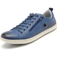 445a36b1390 Sapatênis Azul Ziper masculino