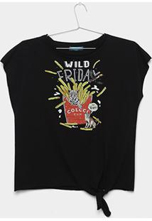 Camiseta Infantil Nó Colcci Fun Feminina - Feminino