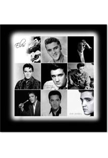 Quadro Elvis Mix Uniart Preto & Branco 45X45Cm