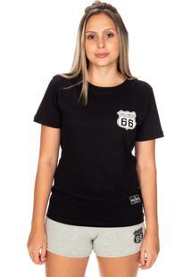 Camiseta Hollyweed California 66 Preta