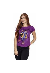 Camiseta Sideway Batman Batgirl - Roxo